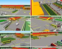 Imágenes de exteriores de terminal