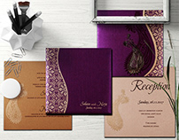 Paisley Pattern Wedding Invitations