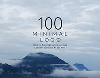 100 MINIMAL LOGO