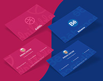 Behance & Dribbble Business Card Design Concept