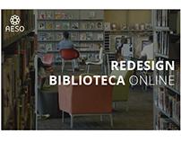 Redesign de Interface da Biblioteca Online AESO