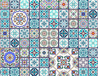 Portuguese tiles and patchwork patterns