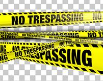 Yellow No Trespassing Boundry Tape - 5 Videos