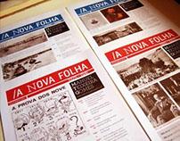 Newspapper for the exhibition in MNSR, Porto