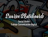 Trabajo Sunrise Skateboards