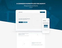 Marketplace wireframe