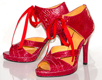 Red Alligator Sandal