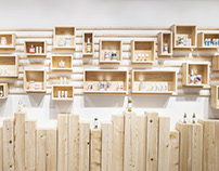 Cosmetic brand retail design - Alpstories
