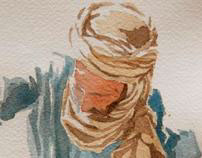 Watercolours in Sahara