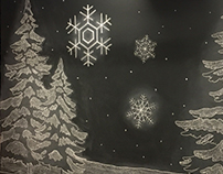 Chalk Art for Holiday Party
