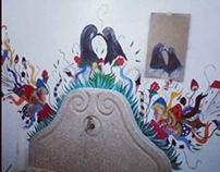 Mural na Galeria Geraldes da Silva