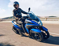 Yamaha Tricity 155 campaign Barcelona 2016