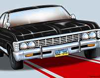 Classic Car Illustrations