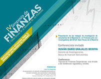 Afiches eventos académicos - Universidad EAFIT