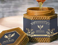"Honey ""Imperial"". Logo + brand identity"