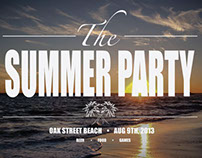 Designory Summer Party Posters