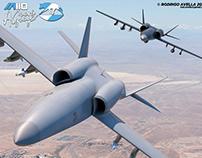IA110 Aguará Guazú Concept Light Attack Aircraft Drone