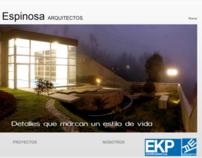 Página web de EKP Constructora