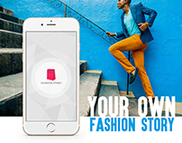 Fashion Story App Design (iOS)