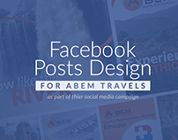 Facebook Posts Design for Abem Travels