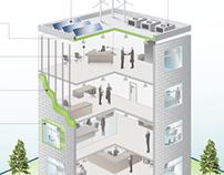 Architectural Building Illustration + Design
