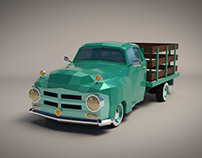 Low Poly Vintage Pickup