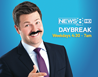News 8 Daybreak Outdoor Campaign