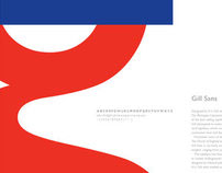 Type Poster - Gill Sans.