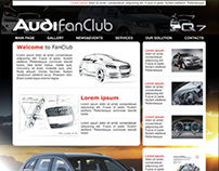 Webdesign AUDI FanClub