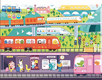 A picture book for transportation