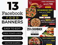 Social Media Food Banners- Free PSD