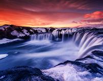 la cascada de los dioses