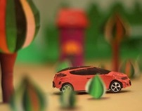 One Great Ride Paper car animation