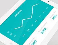 Simple stats UI concept