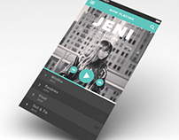 UI concept for a mobile music player.