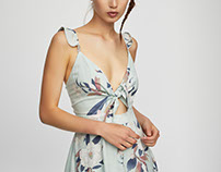 Commissioned flowers print - PULL & BEAR