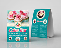 Cake Shop Table Tent Template Vol.4