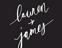 Wedding Invite: Lauren & James