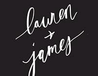 Wedding Invite: Lauren & James
