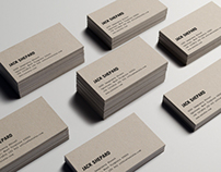 Paperboard Business Card Mock-Up