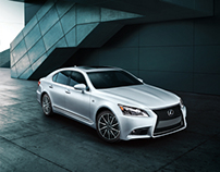 Lexus LS photo shoot in southern California