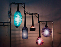 Recycled Lamps Cocoons