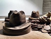 Wooden Hat-shapes for BARBISIO