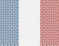 France Pattern - Vectors