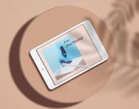 Free* Minimal iPad Mockup Demo