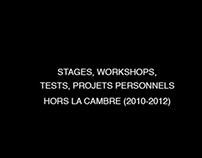 Workshops, stages, tests hors La Cambre