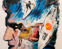 Gabriel Medina 90x130cm - Acrylic on Canvas