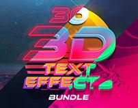 3D Text Effects Bundle Vol.4