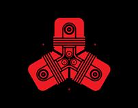 """Logo for """"Burn The Machine"""" music festival."""