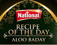 National foods web banner design campaing
